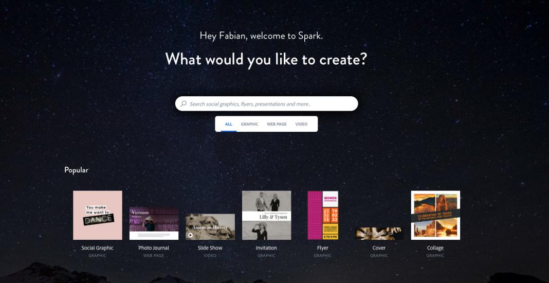 Adobe Spark Unterricht
